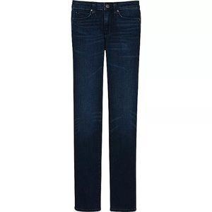 Uniqlo skinny jeans raw denim 25 29 69 navy pants